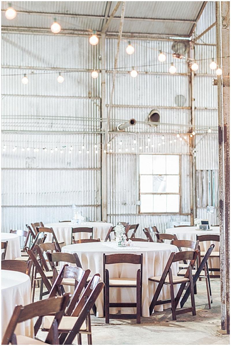 lights wedding reception venue