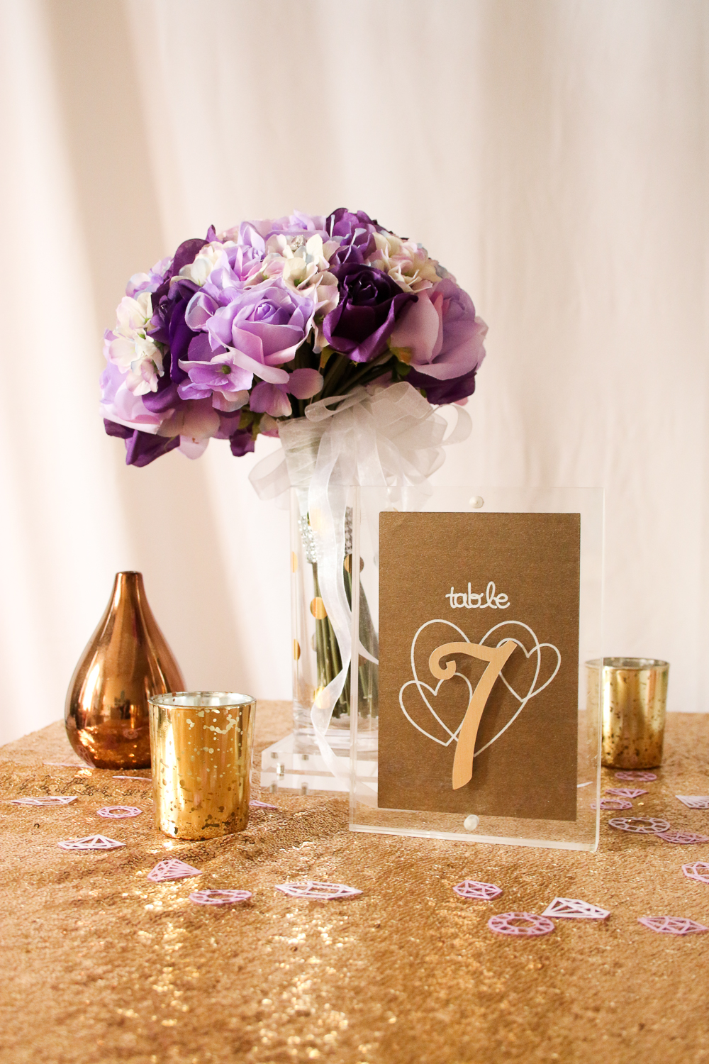 Acrylic Block Table Numbers