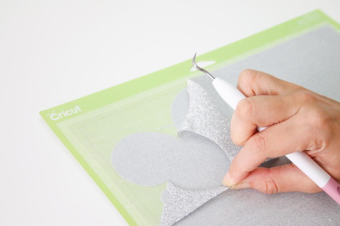 Silver Glitter Monogram Pillow