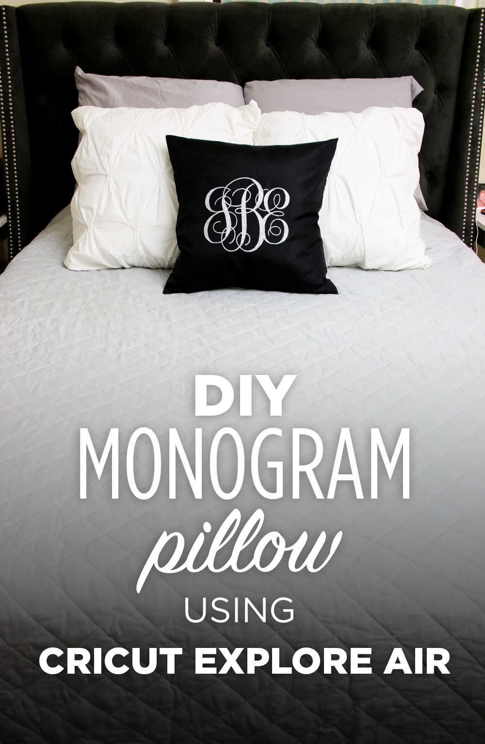 See how easy it is to make your own custom monogrammed pillow using the Cricut Explore Air! @cricut #mycricutstory