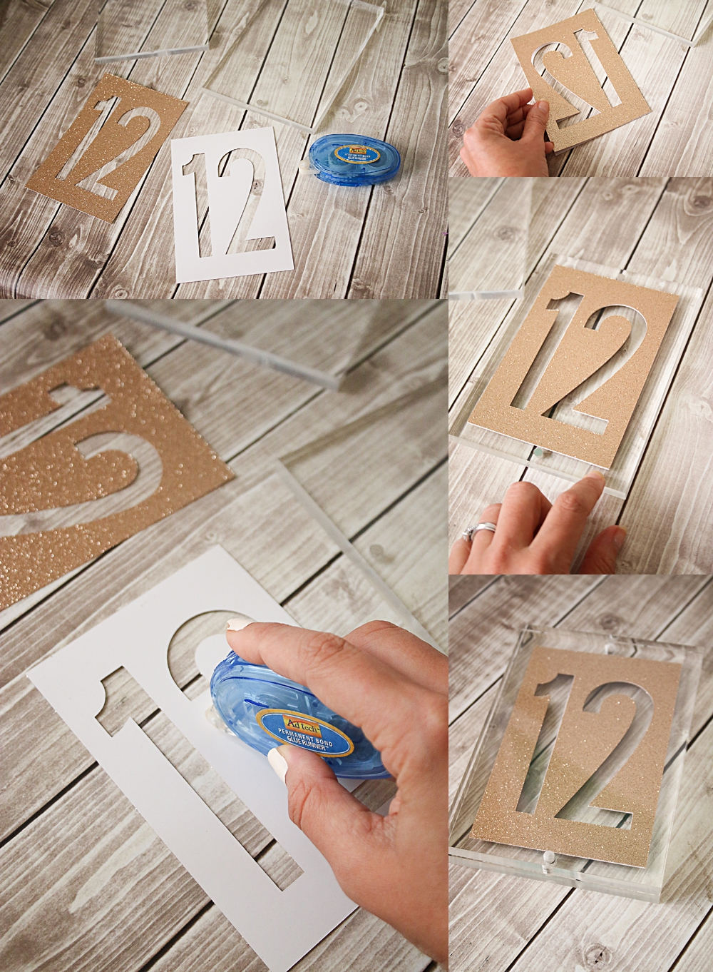 Cricut Acrylic Block Table numbers