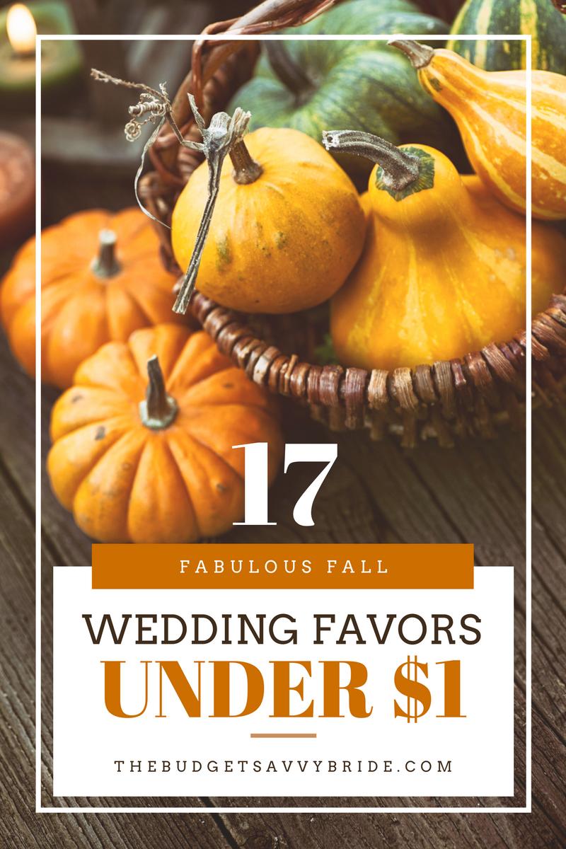 fabulous fall wedding favors under $1