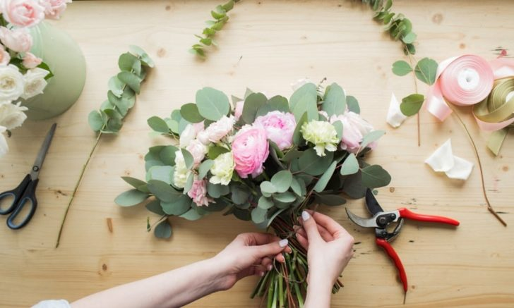 side hustle ideas for brides - do some freelance floral arranging