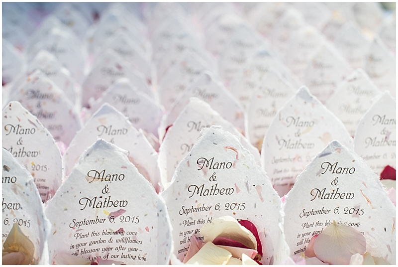 flower cone favors
