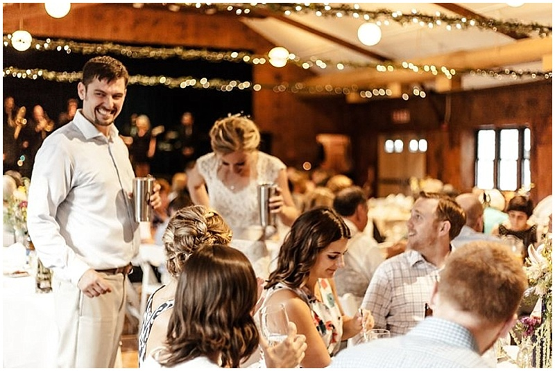 campground wedding reception
