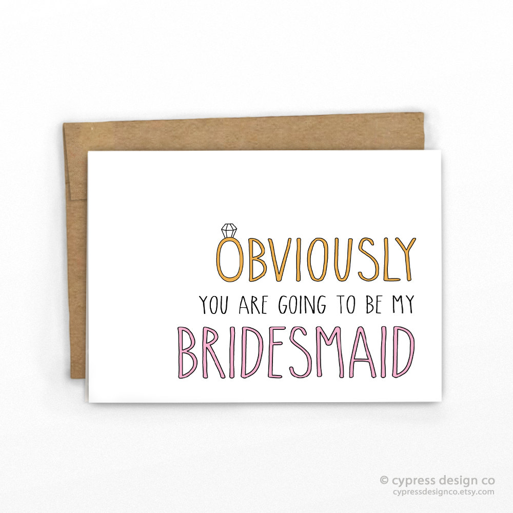 Cypress Card Co -Bridesmaids Proposal Cards from Etsy
