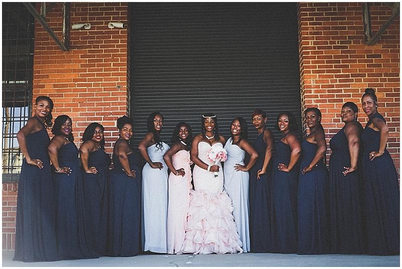 navy and light blue bridesmaid dresses