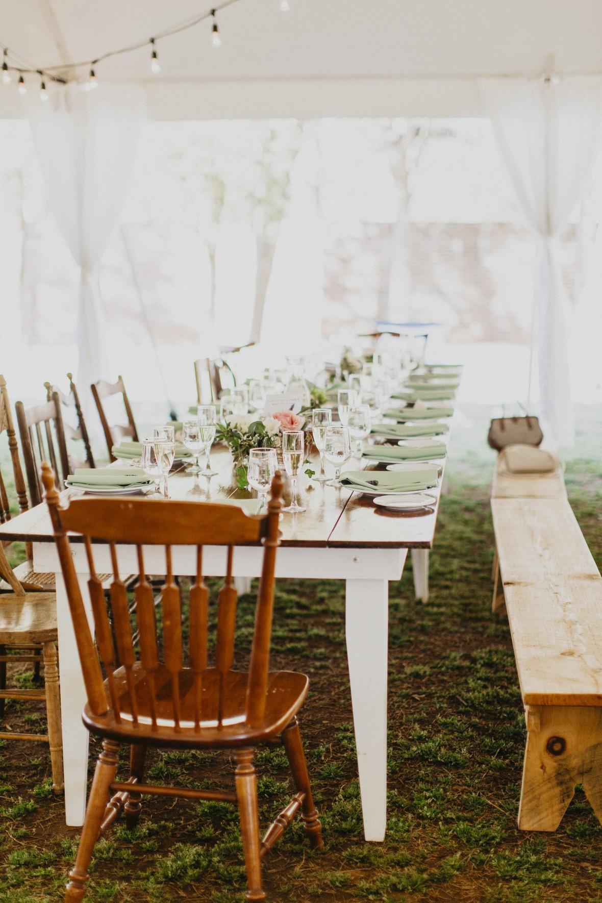 Simple Reception Table Decor