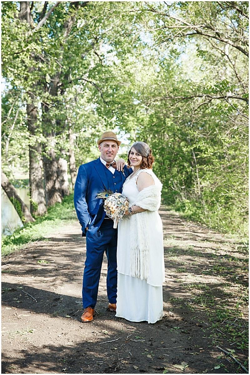 retro wedding attire