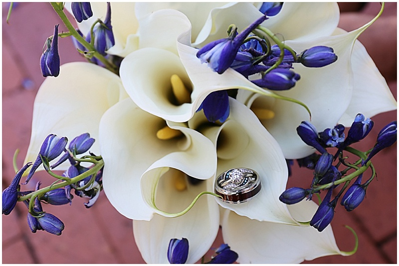 lily and bluebell bouquet