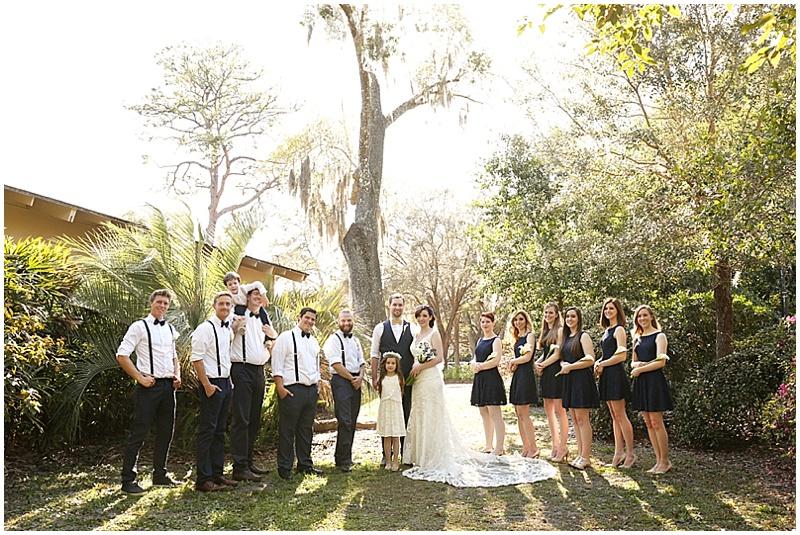 dressy casual wedding party