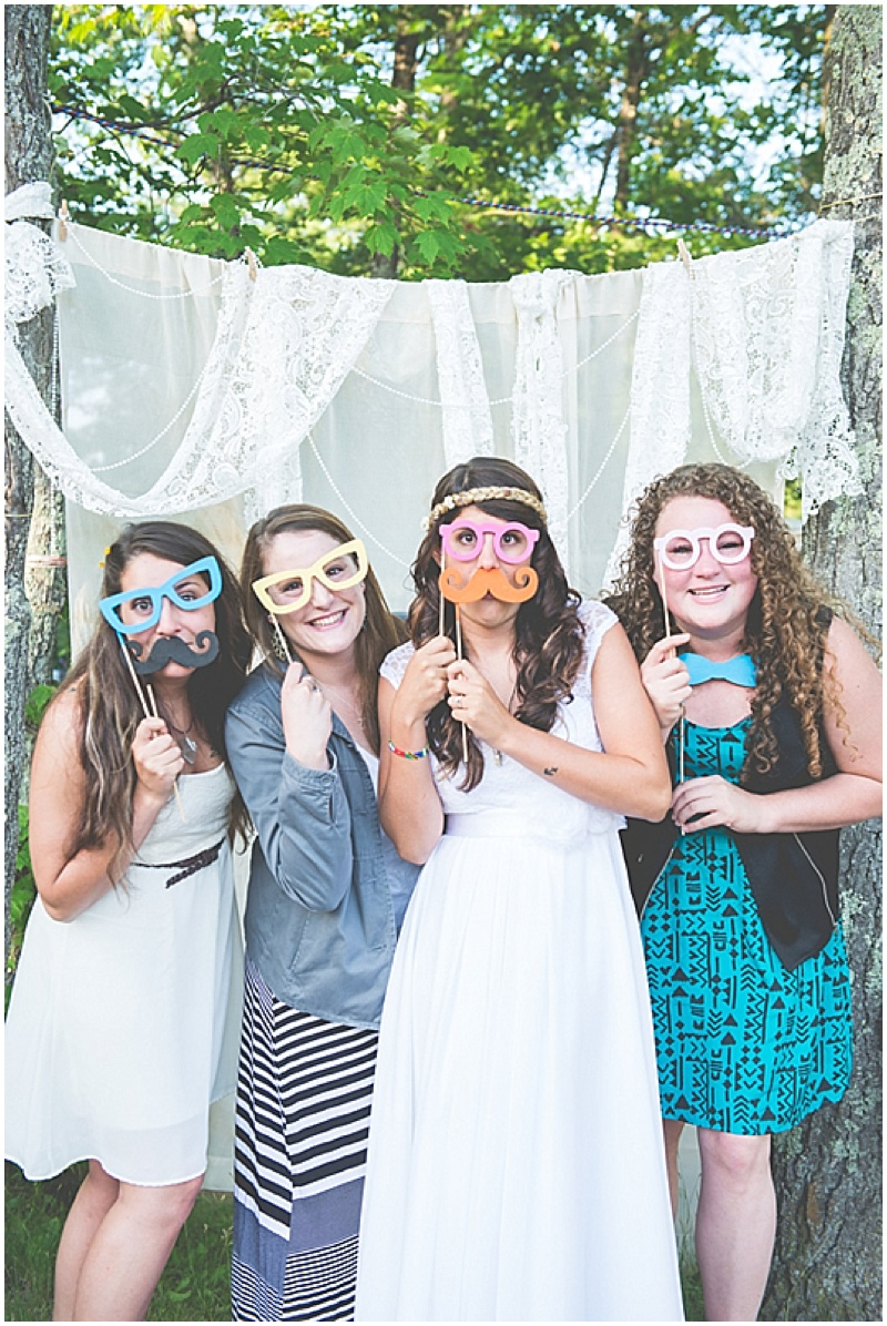 homemade photo booth