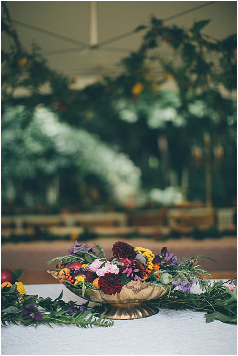 fresh flowers wedding decor
