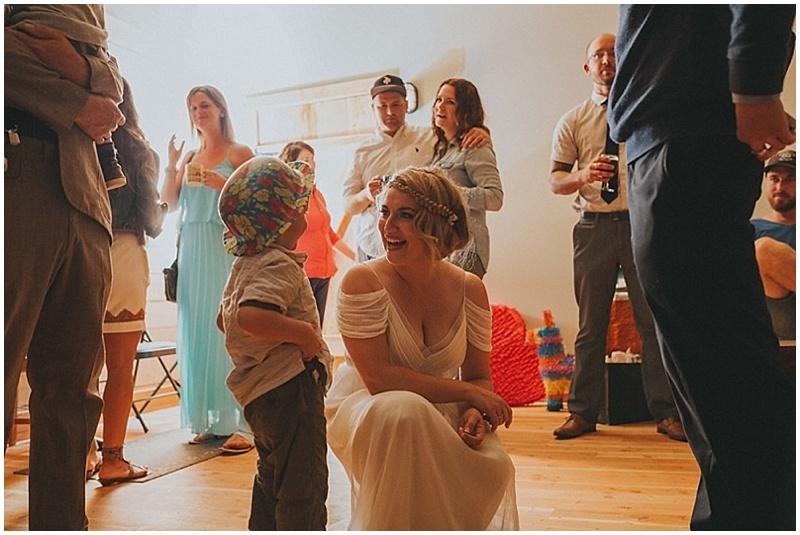 casual wedding reception
