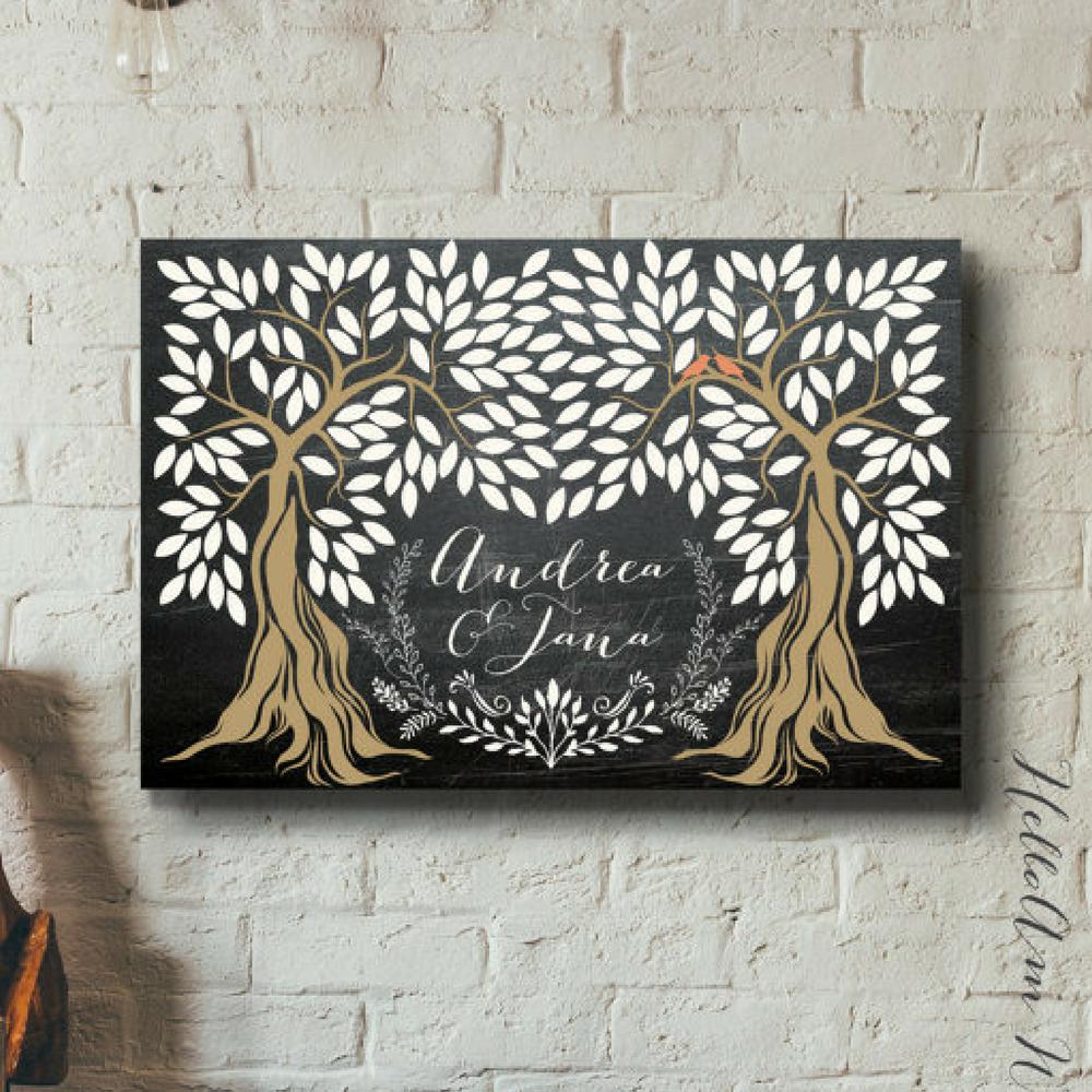 Chalkboard Wedding Guest Book Alternative by HelloAm on Etsy
