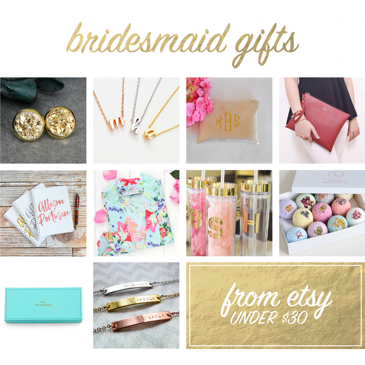 Handmade Gifts for Bridesmaids from Etsy