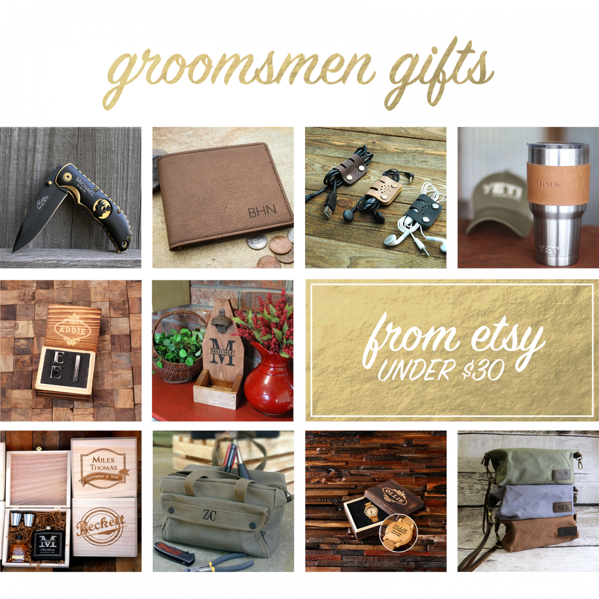 Handmade Gifts for Groomsmen from Etsy