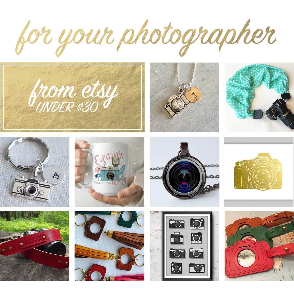 Handmade gifts for photographers from Etsy