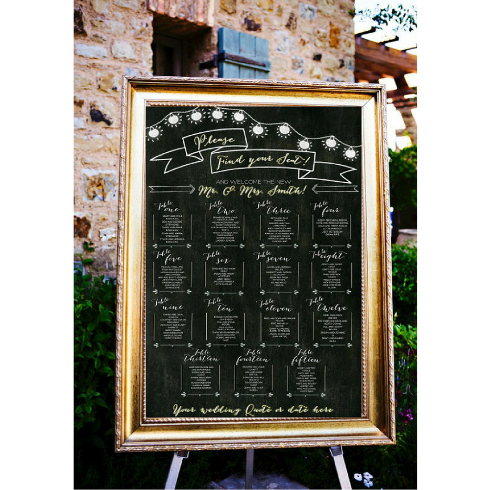 Chalkboard Wedding Seating Chart by LCoOnEtsy on Etsy