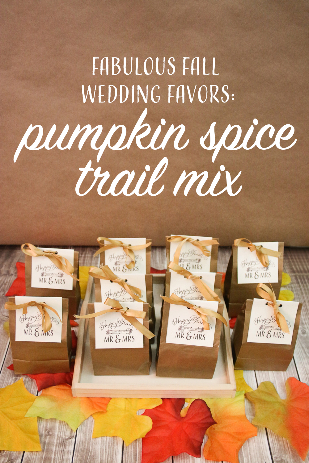 Pumpkin Spice Trail Mix Wedding Favors