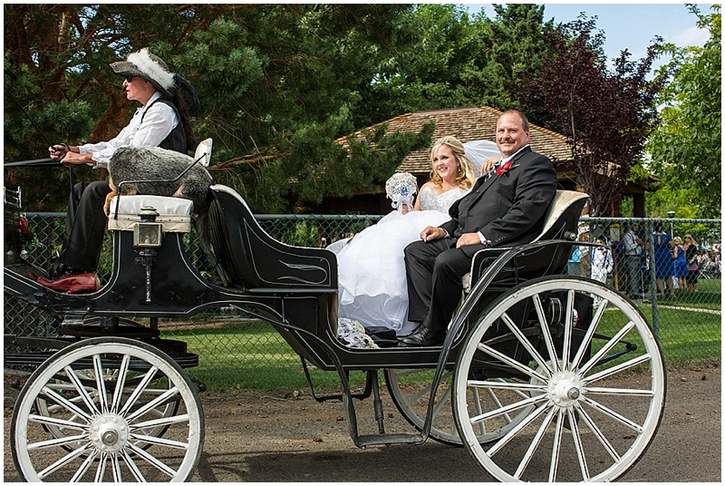 wedding arrival