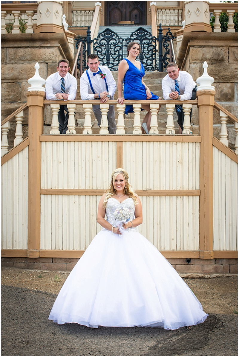 blue wedding attire