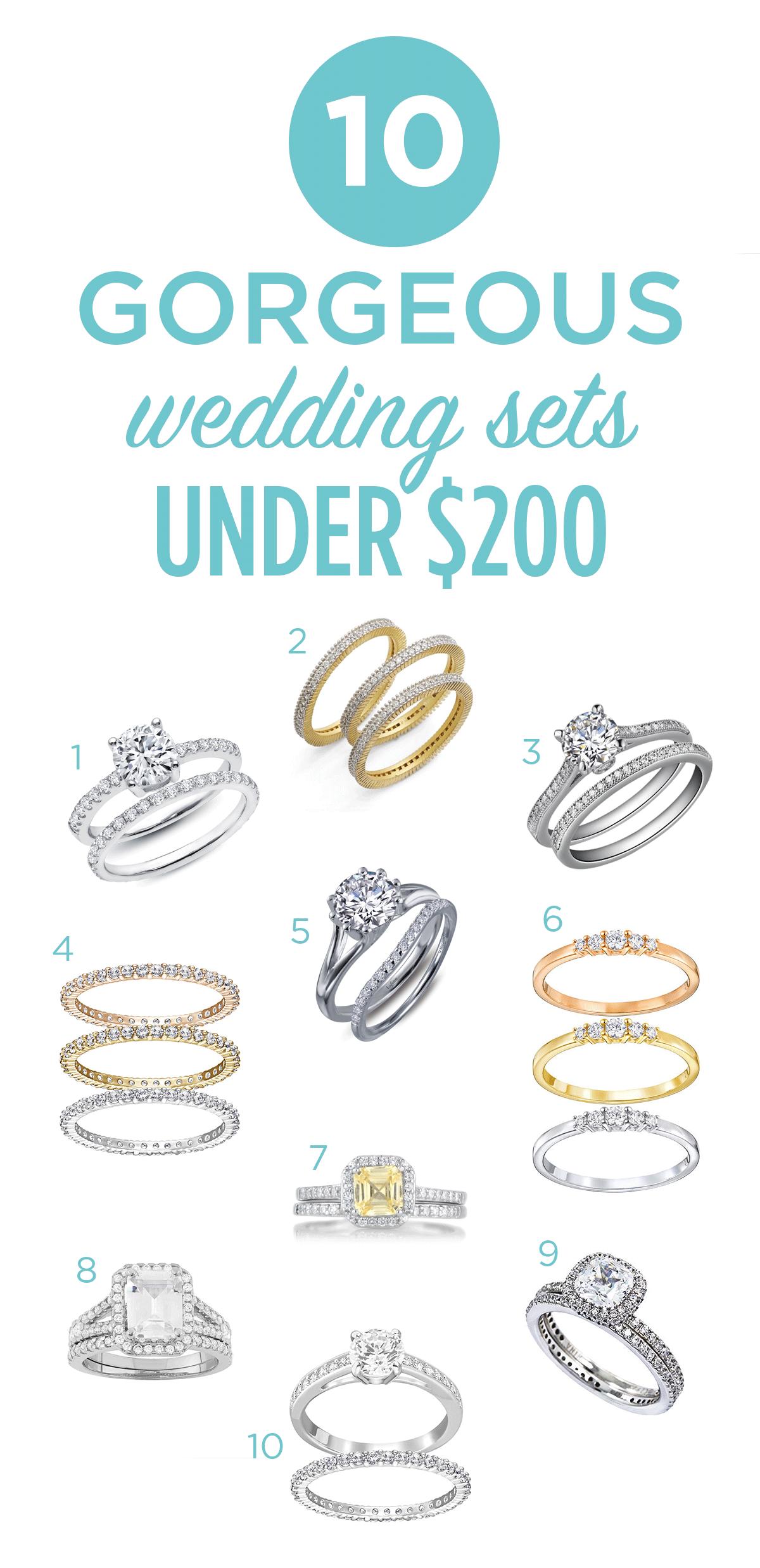 wedding sets under $200
