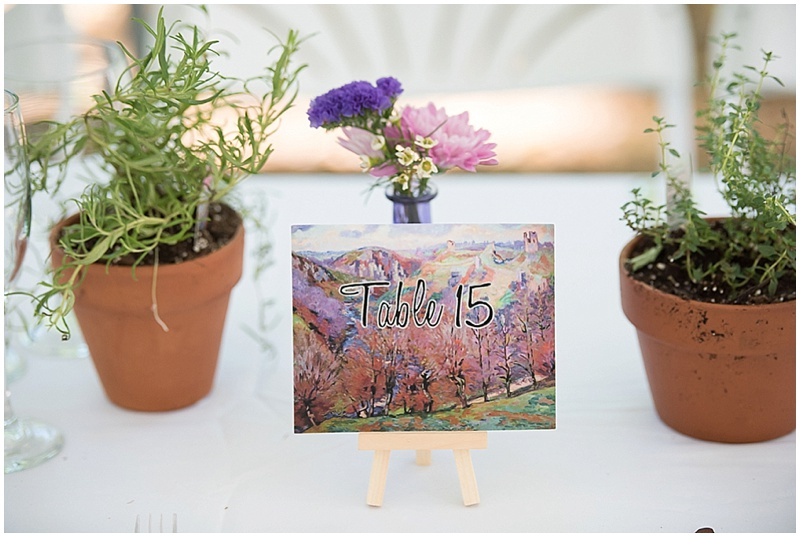 monet inspired wedding decor