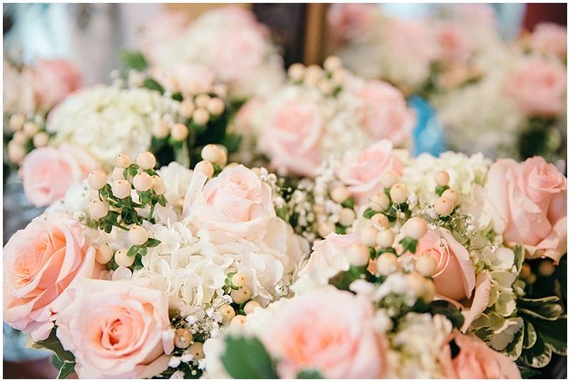 pink wedding flwoers