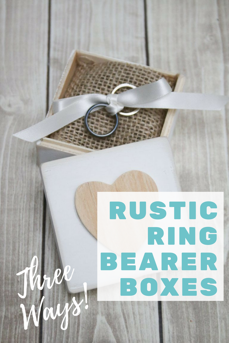 Learn how to make some rustic ring bearer boxes with this simple tutorial I created for the Oriental Trading Company blog!