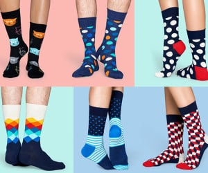 Stylish socks for grooms and groomsmen for weddings. Gift packs and more.