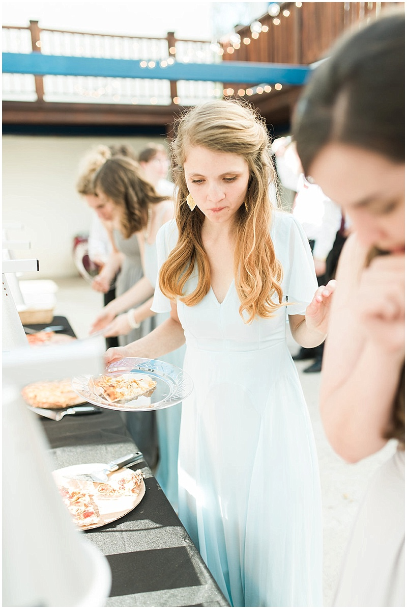 pizza wedding reception