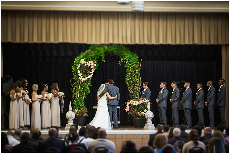 community center wedding