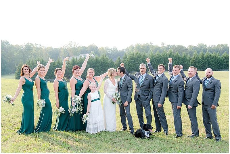 attendants wedding photo