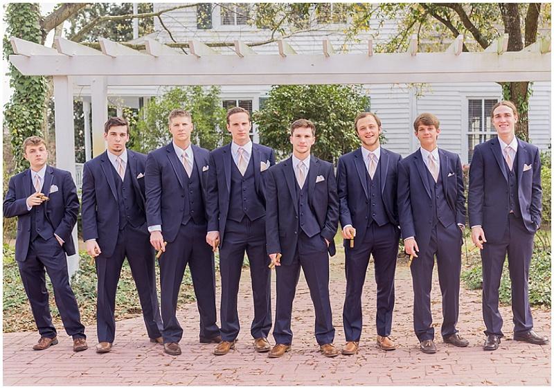 navy groomsmen suits