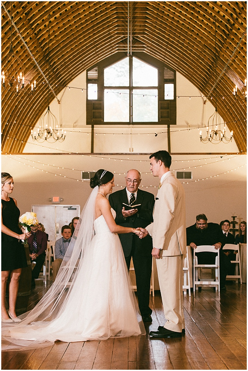 indoor barn wedding