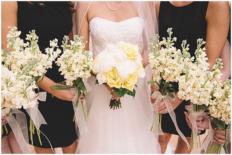 white and yellow wedding flowers