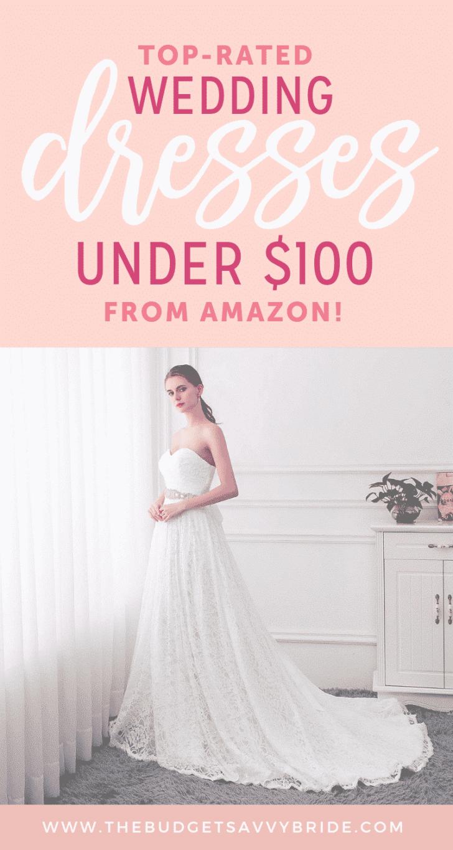 amazon wedding dresses under 100