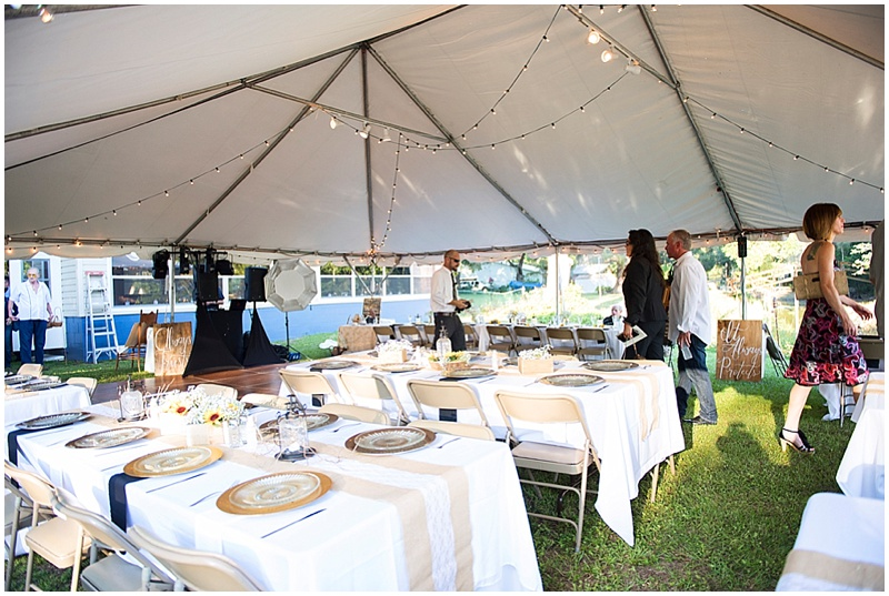 tent wedding reception