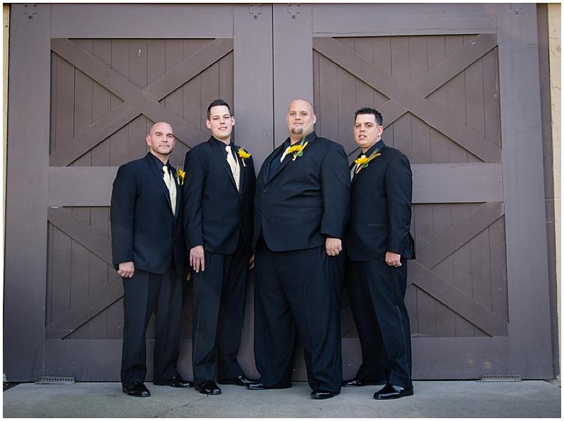 black groomsmen attire