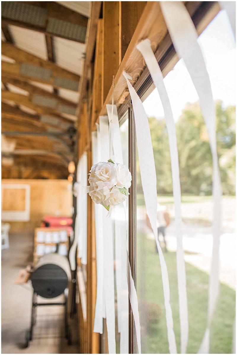 crepe paper wedding decor
