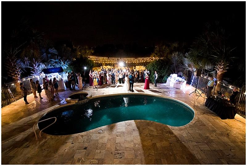 backyard outdoor wedding
