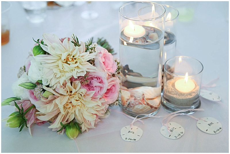 simple candle table decor