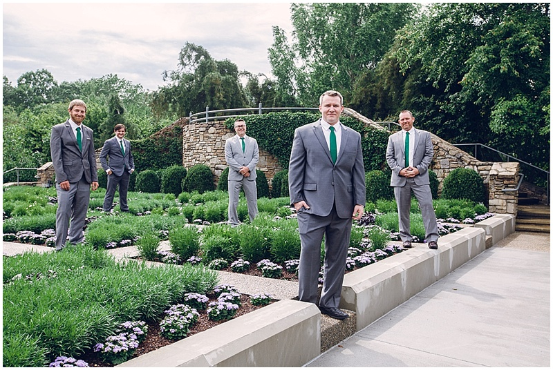 gray groomsmen suit