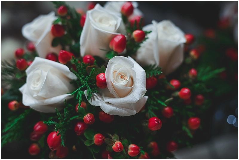 wintery wedding bouquet
