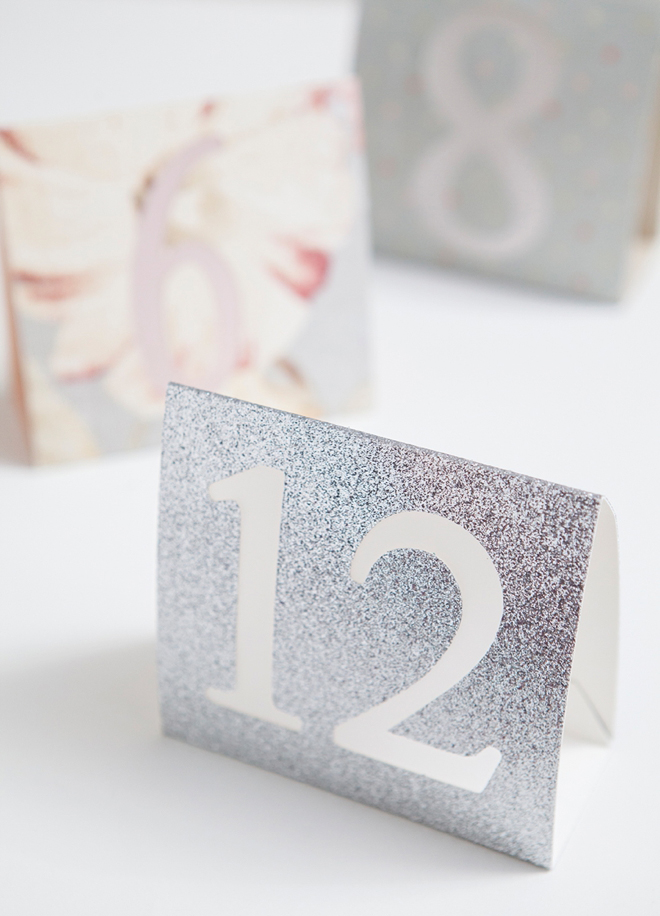 Something Turquoise - DIY Table Numbers using Cricut Explore