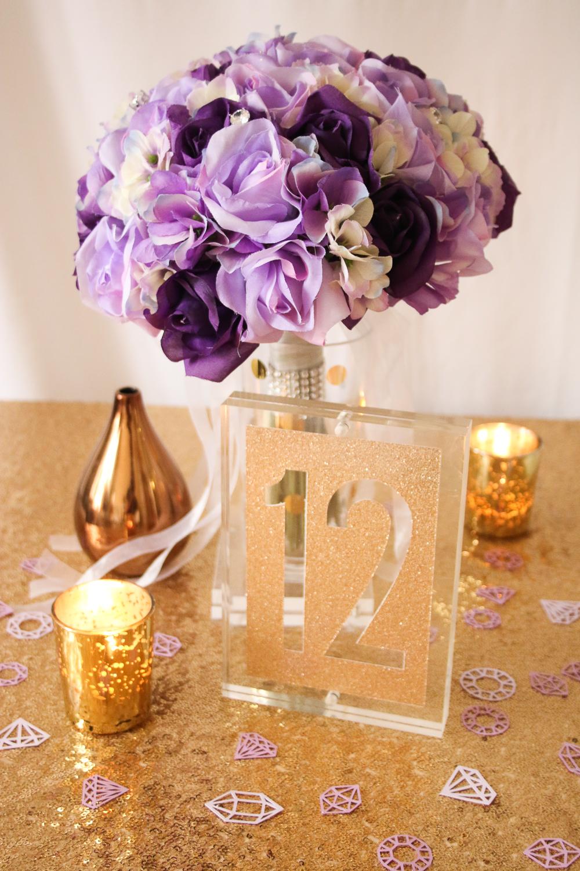 Acrylic Block Table Numbers using Cricut Explore via The Budget Savvy Bride