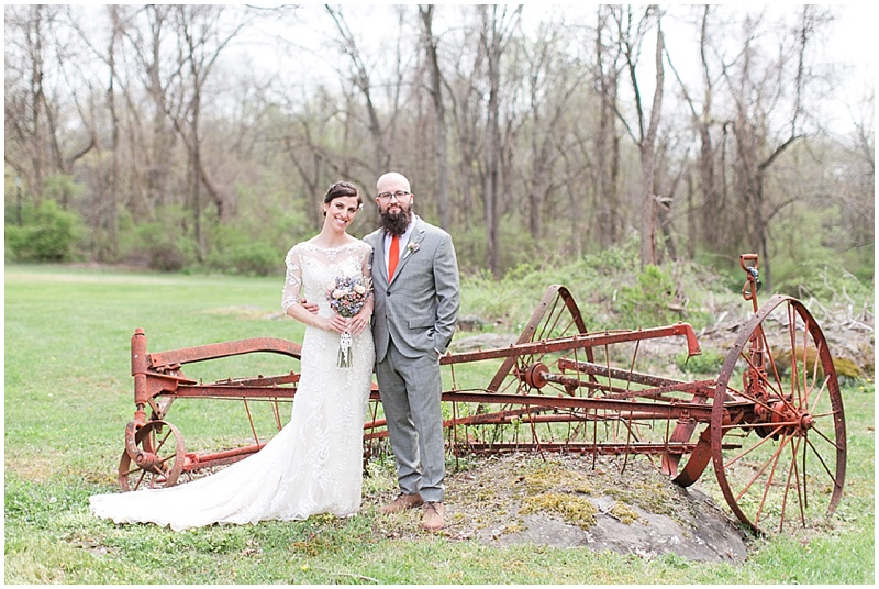 farm equipment wedding photos