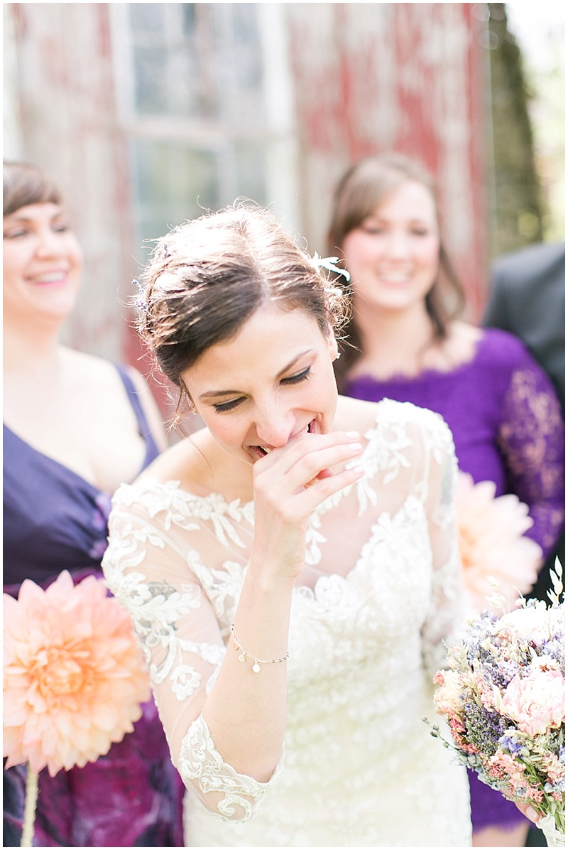 mismatched purple bridesmaid dresses