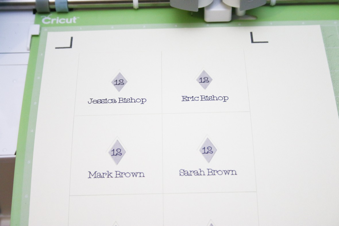 Cricut Diamond Pop Up Place Cards